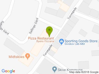 Byens Pizzaria - Kort