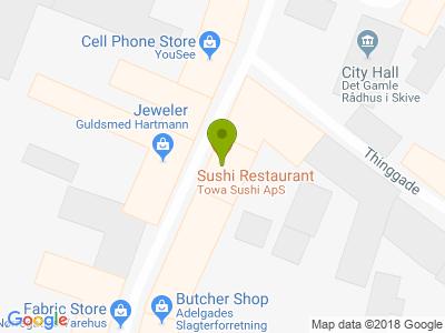 Towa Sushi - Kort
