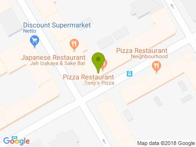Tony´s Pizza Istedgade - Kort