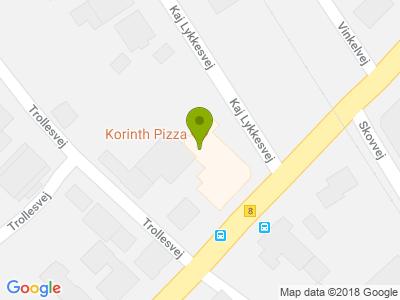 Korinth Pizza - Kort