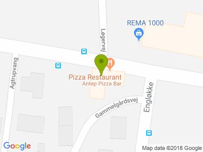 Antep Pizza Bar - Kort