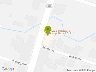 Bryrup Pizza & Grill - Kort