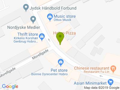 Hobro Pizza - Kort