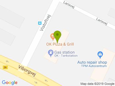 OK Pizza & Grill - Kort