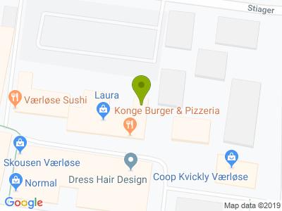 Konge Burger & Pizzeria - Kort