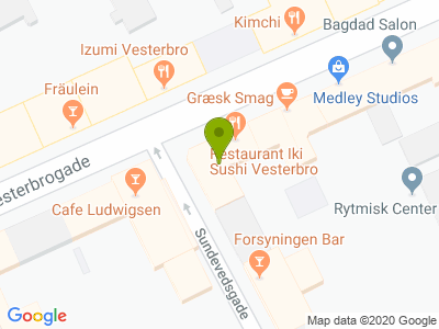 Restaurant Iki Sushi Vesterbro - Kort