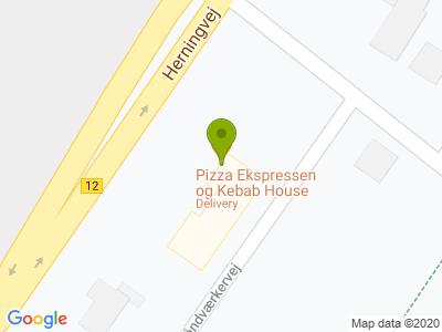 Pizza Ekspressen og Kebab House - Kort