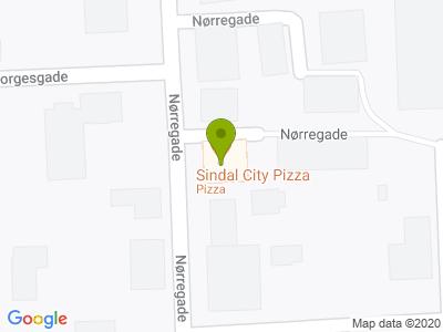 Sindal City Pizza - Kort