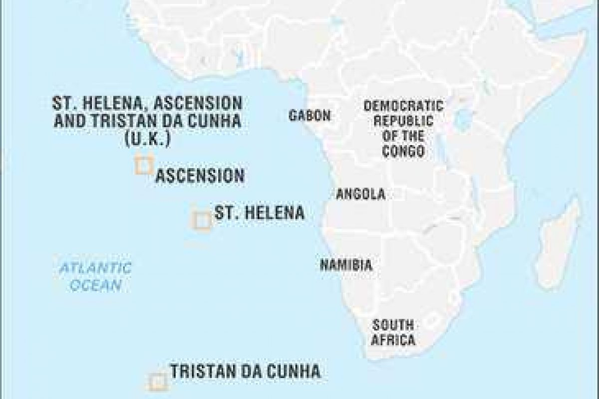 Google Map of St Helena - Secret of the South Atlantic