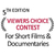 5th Viewer's Choice Contest - Short Films & Documentaries
