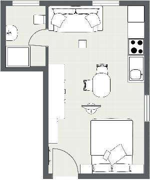 Appartment 25 m² günstig - Bad Staffelstein - 4