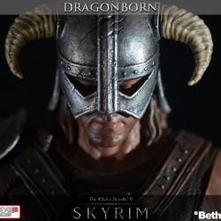 Super limited Dragonborn statue with glowing fireball