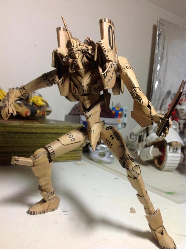 Transforming Neon Genesis Evangelion Made From Cardboard