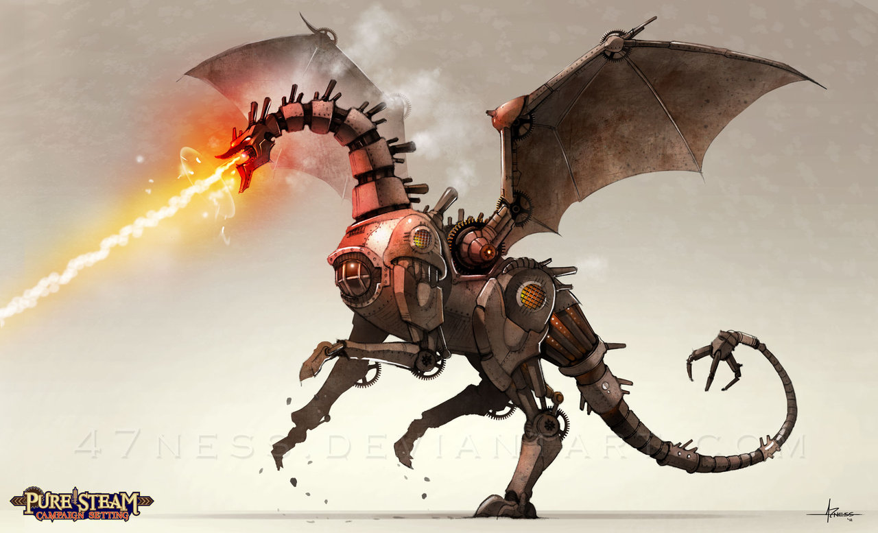 Mechanical Dragon for Pure Steam RPG