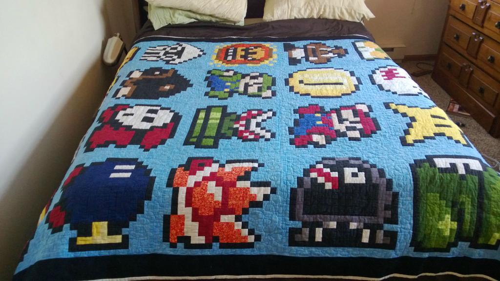 Handmade Mario quilt : mario quilt - Adamdwight.com