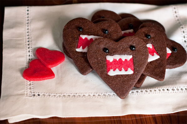 Domo-kun heart cookies 2
