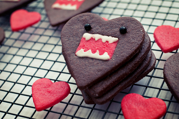 Domo-kun heart cookies 3