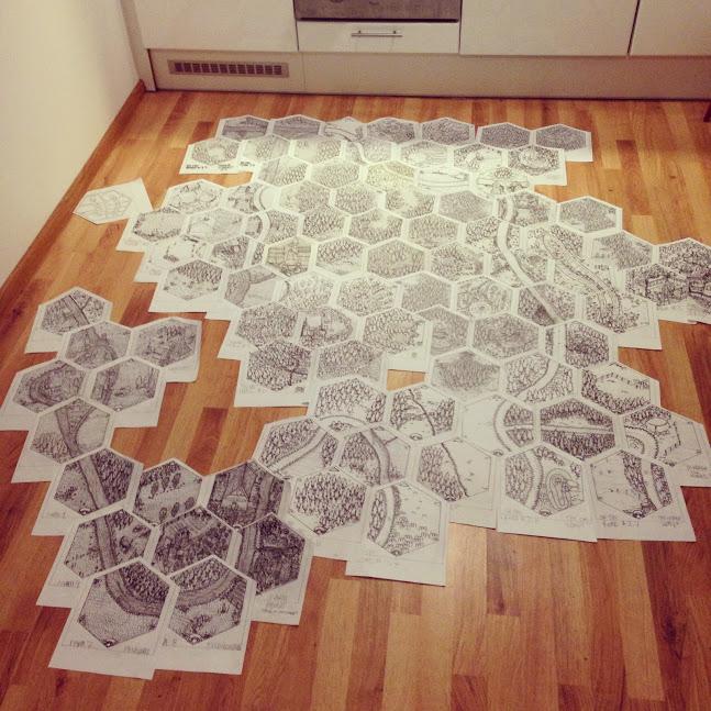 Hex floor -