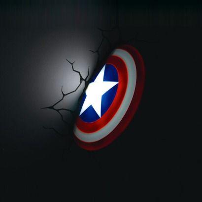 Superhero week avengers 3d wall lights wall light captain america mozeypictures Choice Image