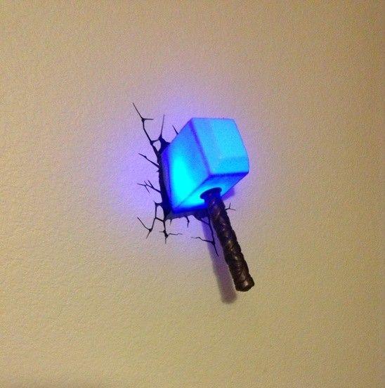 Superhero week avengers 3d wall lights wall light thor mozeypictures Choice Image