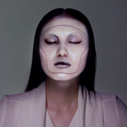 Tomorrow's technology is here today with this incredible face projection