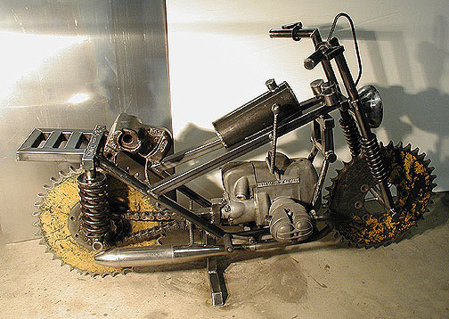 Life Sized Mad Max Motorcycle Sculpture