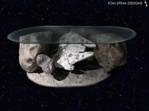 A Collector S Dream Millennium Falcon Asteroid Coffee Table