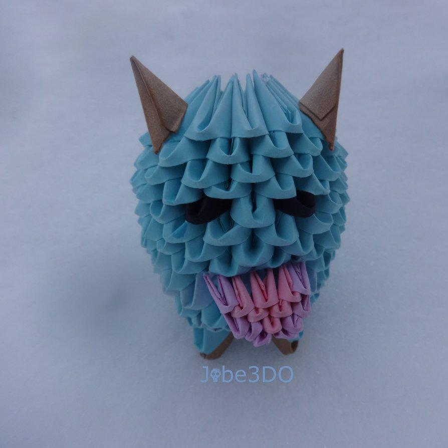 Geek culture 3d origami art 3d origami poro jeuxipadfo Gallery