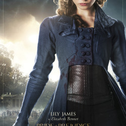 6 character posters for Pride and Prejudice and Zombies
