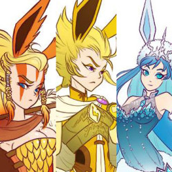 Gijinka: The D&D Eeveelutions