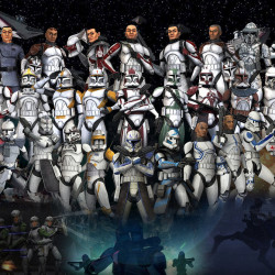 Who supports the clone army?