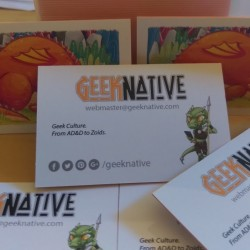Geeking out on Impakt Colour Core business cards