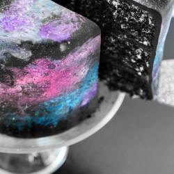 This black velvet space cake is full of stars