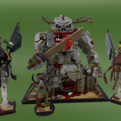 The Great Unclean One born from LEGO
