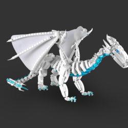 A LEGO elemental ice dragon
