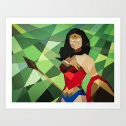 Superhero Week: Geometric superhero prints