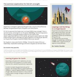 Superhero Week: The Real-World Physics of Superman [infographic]