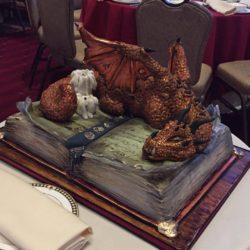 Mighty dragon groom cake