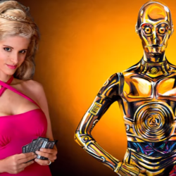 Wait? Wut? Sexy C-3PO body paint?