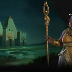 A first look at at Queen Amanitore the Nubian leader in Civilization VI