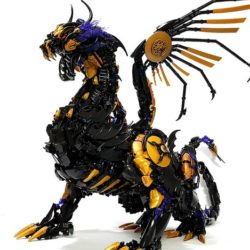 Fierce! 10,000 bricks in this dangerous dragon!