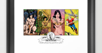 John Carter / Edgar Rice Burroughs tribute art print