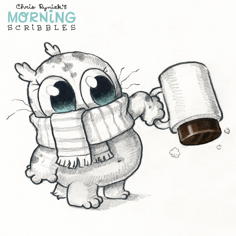 Scribbles Drawing And Coloring Book : Chris ryniak s cute monsters