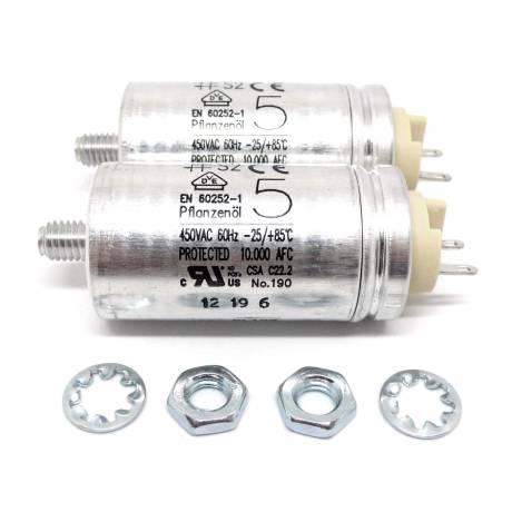 Premium Motorkondensatoren 5μF für Grundig TS1000 (2er Set)