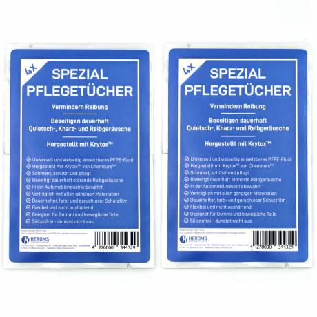 Spezial-Pflegetücher mit PFPE-Fluid (Krytox™) getränkt (8er Set) in Sachets
