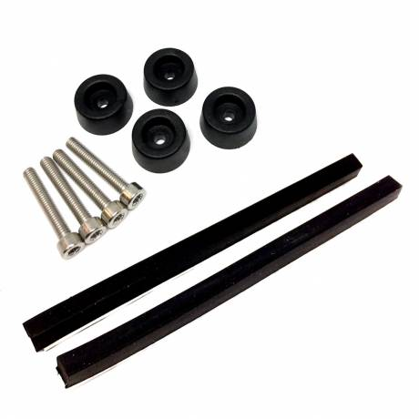 Refurbishment-Kit: Gehäusefüße, Schrauben und Gummileisten für Grundig TS1000