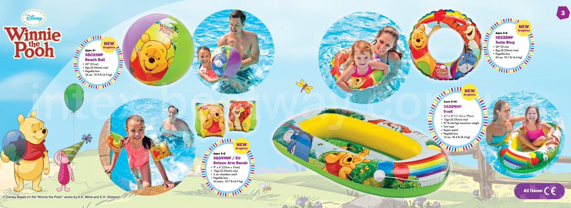 Детская надувная лодка Intex 58394 Винни Пух