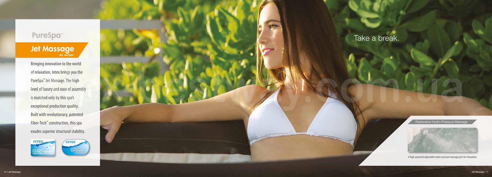 Надувной СПА-Джакузи Intex PureSpa Jet Massage