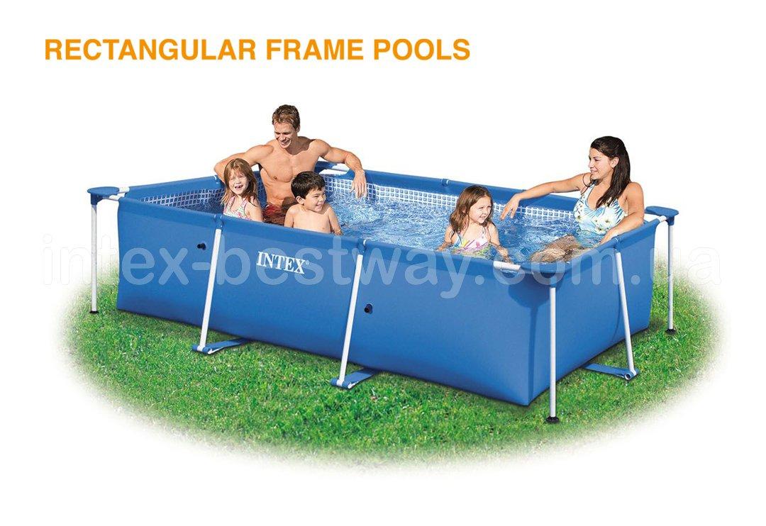 Прямоугольные каркасные бассейны Intex Rectangular Frame Pools