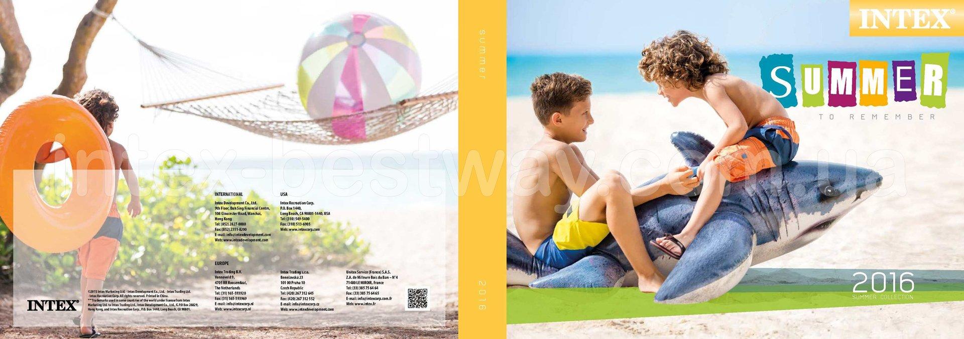 Товары Intex для отдыха на воде, надувные изделия Intex 2016